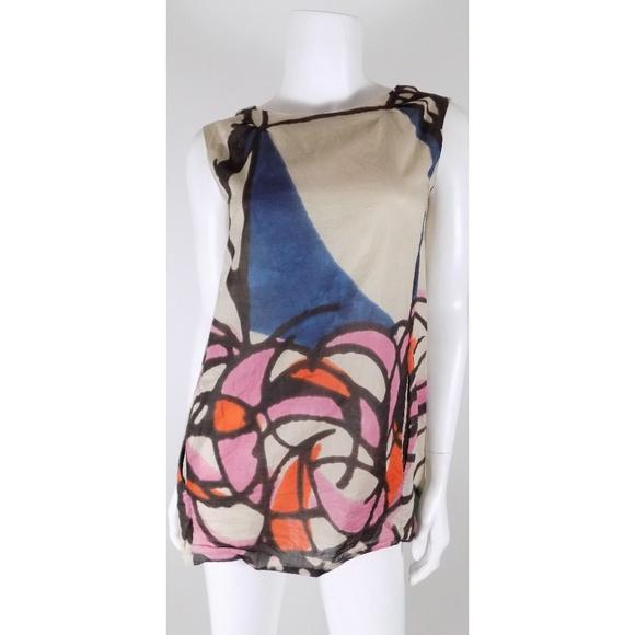 9da5c5d7308895 Marni Abstract Silk Floral Tank Top Blouse. M 5acc08d436b9de62b4b5b05a